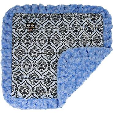 Bessie & Barnie Luxury Ultra Plush Versaille Blue Black Puma Pet Blanket for Dogs