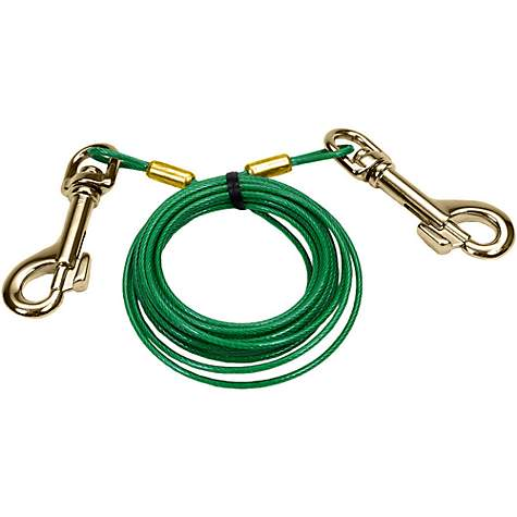 Petlinks System Green Cable Dog Tie Out, For Puppies Up to 30 LBs