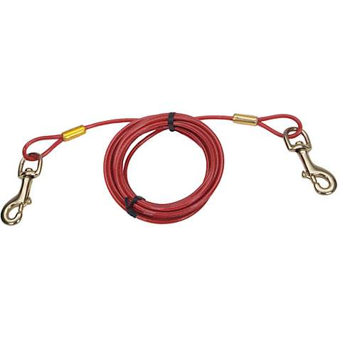 Petlinks System Red Heavy Duty Cable Dog Tie Out, For Dogs Up to 80 LBs