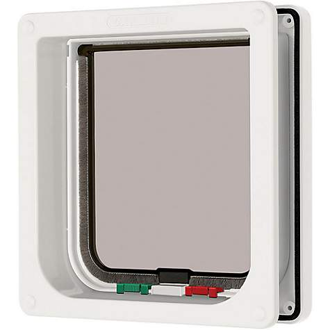 Petlinks System Four Way Locking Flap in White
