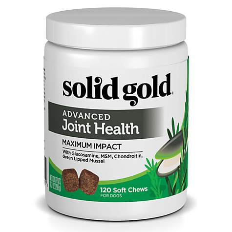 Solid Gold Advanced Joint Health Supplement for Dogs With Green Lipped  Mussel, Glucosamine, MSM, Chondroitin, 10 15 oz