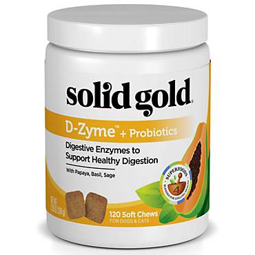 Solid Gold D-Zyme + Probiotics Supplement for Healthy Digestion With Digestive Enzymes & Probiotics for Dogs