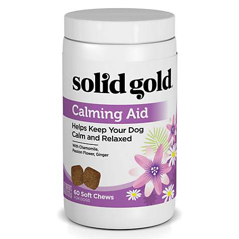Solid Gold Calming Aid Chews for Dogs With Natural Supplement with Chamomile, Passion Flower & Ginger
