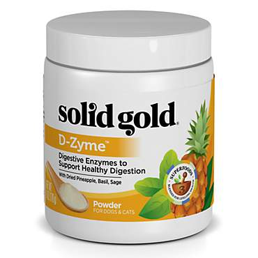 Solid Gold D-Zyme Powder for Healthy Digestion Natural Supplement With Digestive Enzymes & Superfoods for Dogs