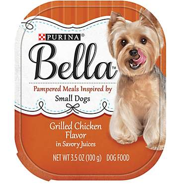 Bella Grilled Chicken Flavor in Savory Juices Adult Wet Dog Food
