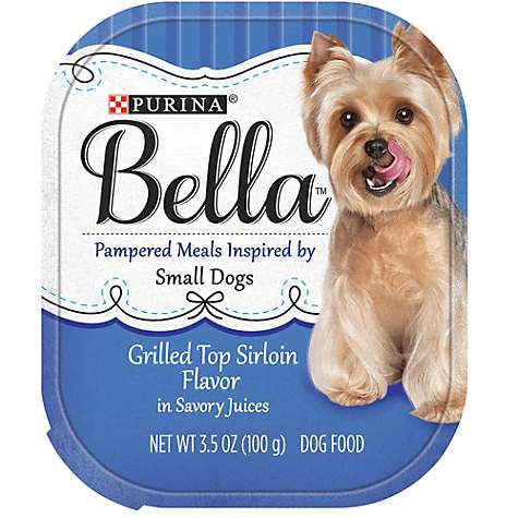 Purina Bella Grilled Top Sirloin Flavor in Savory Juices Adult Wet Dog Food