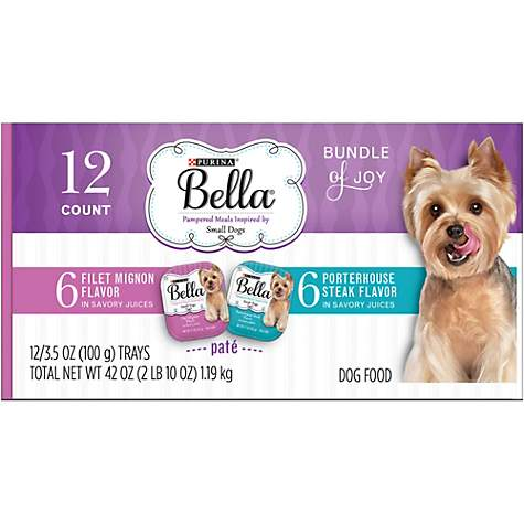 Purina Bella Bundle of Joy With Filet Mignon & Porterhouse Steak Flavor Adult Wet Dog Food Variety Pack