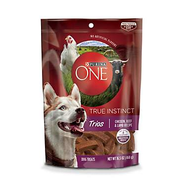 Purina ONE True Instinct Trios Chicken, Beef & Lamb Recipe Dog Treats