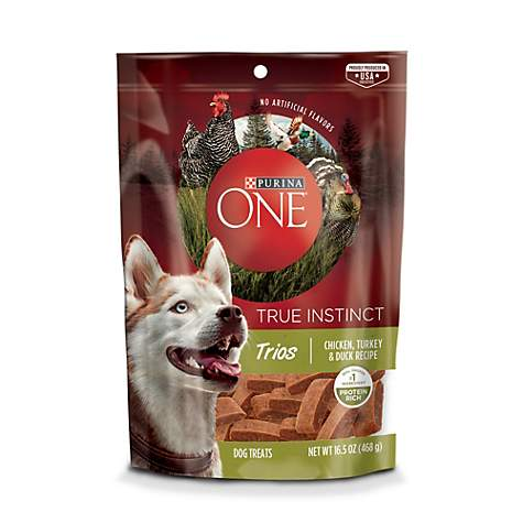 Purina One True Instinct Trios Chicken, Turkey & Duck Recipe Dog Treats