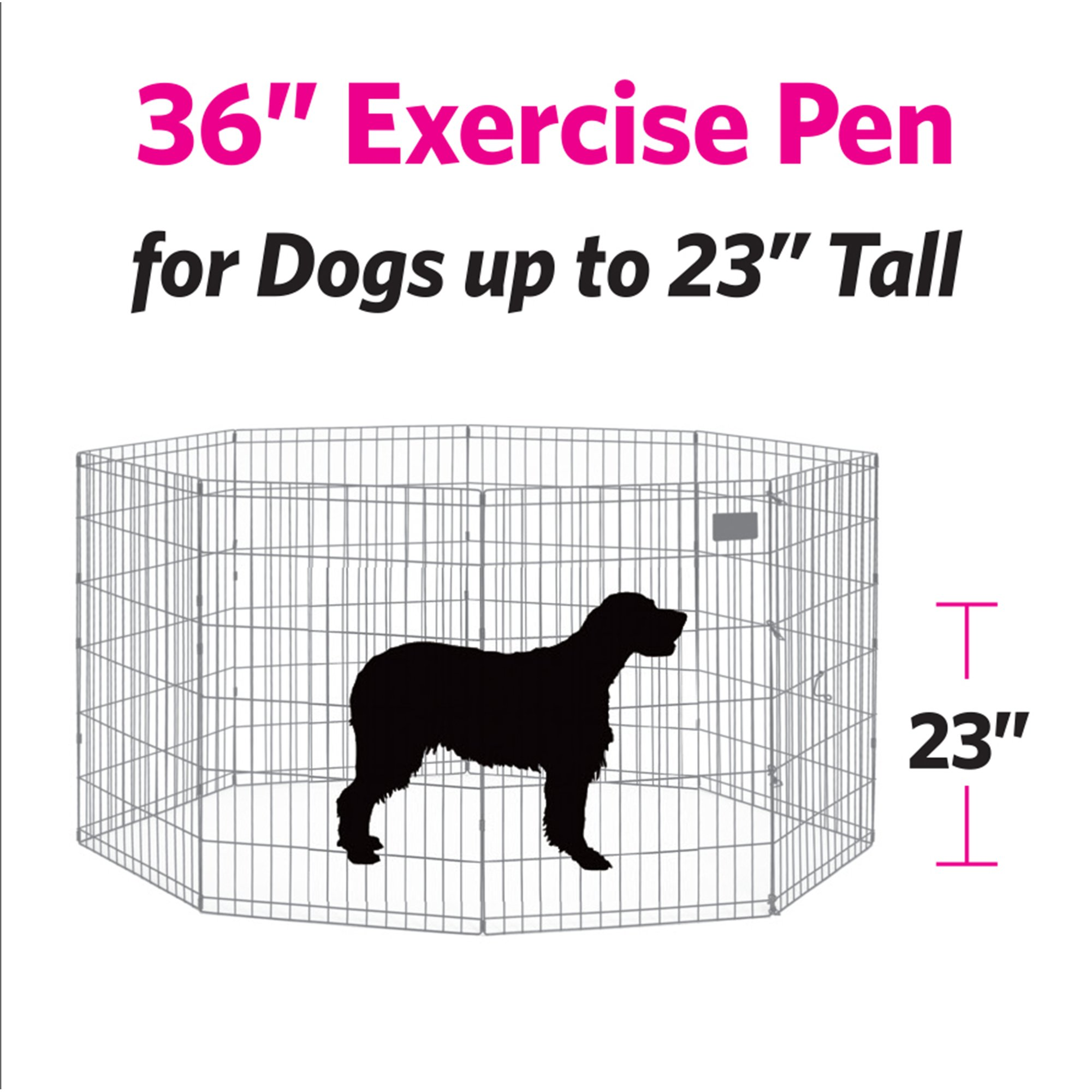 Midwest-Black-E-Coat-Exercise-Pen-w-Door-for-Dogs miniatuur 4