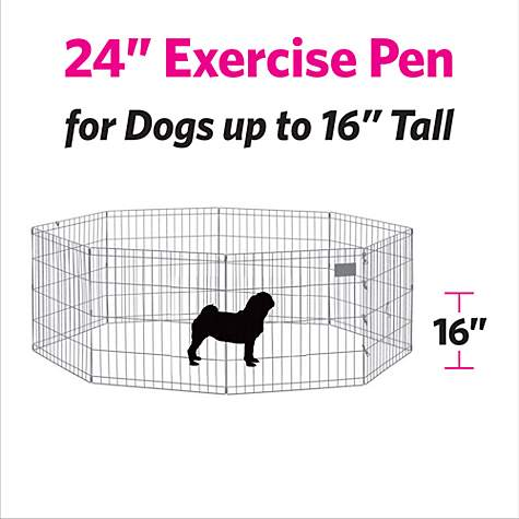 Midwest Black E Coat Exercise Pen W Door For Dogs Petco