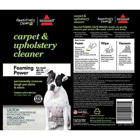 Bissell Pawsitively Clean Foaming Power Carpet Upholstery Cleaner