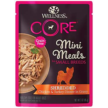 Wellness CORE Natural Grain Free Small Breed Mini Meals Shredded Chicken & Turkey Dinner Wet Dog Food