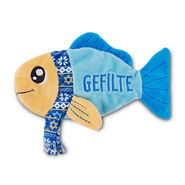 Holiday Tails Hanukkah Gefilte Fish Flattie Dog Toy