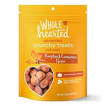 Wholehearted Grain Free Pumpkin Biscuit Dog Treats Petco