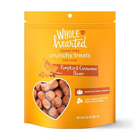 whole hearted grain free pumpkin biscuit dog treats petco