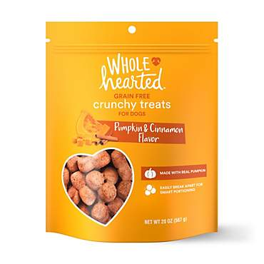 WholeHearted Grain Free Pumpkin Biscuit Dog Treats