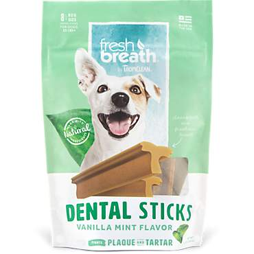 TropiClean Fresh Breath Regular Dental Sticks Advanced for Dogs