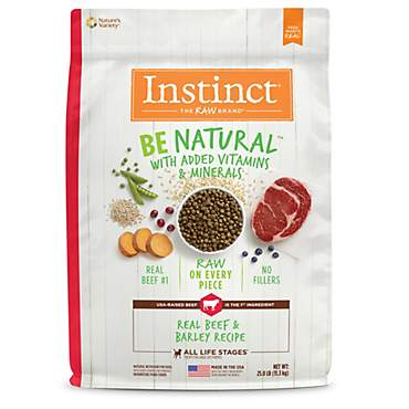 Instinct Be Natural Real Beef & Barley Recipe Natural Dry Dog Food by Nature's Variety
