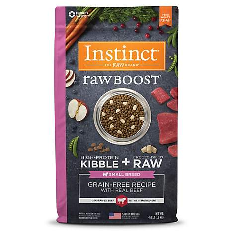 Instinct Raw Boost Small Breed Grain Free Recipe with Real Beef Natural Dry Dog Food by Nature's Variety