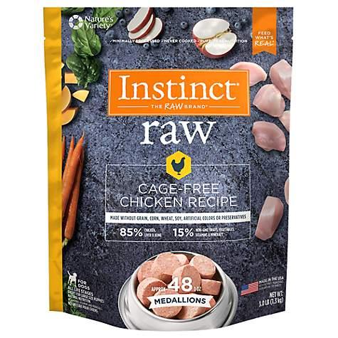 Instinct Frozen Raw Medallions Grain Free Cage Free Chicken