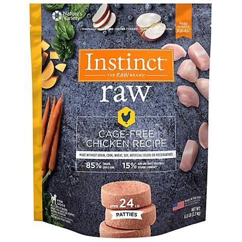 Instinct Frozen Raw Patties Grain Free Cage Free Chicken Recipe