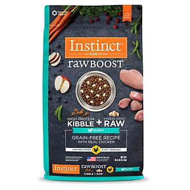 Instinct Raw Boost Puppy Grain Free Recipe with Real Chicken Natural Dry Dog Food by Nature's Variety