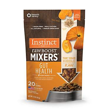Instinct Freeze Dried Raw Boost Mixers Gut Health Grain Free All Natural Dog Food Topper by Nature's Variety