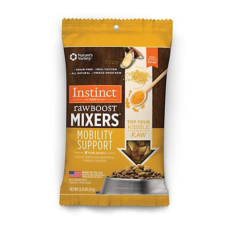 Instinct Freeze Dried Raw Boost Mixers Mobility Support Grain Free All Natural Dog Food Topper by Nature's Variety