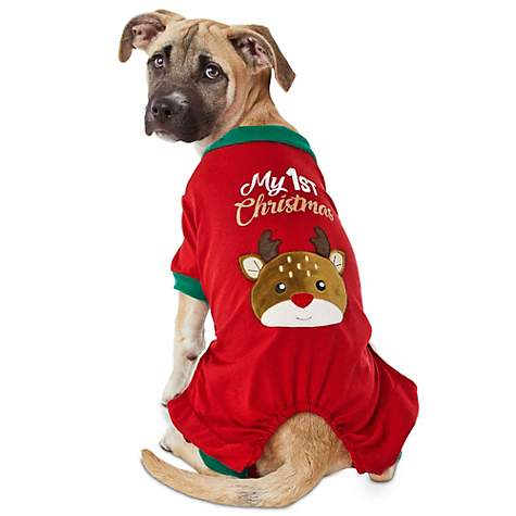 Holiday Tails Near And Deer Puppy Pajamas
