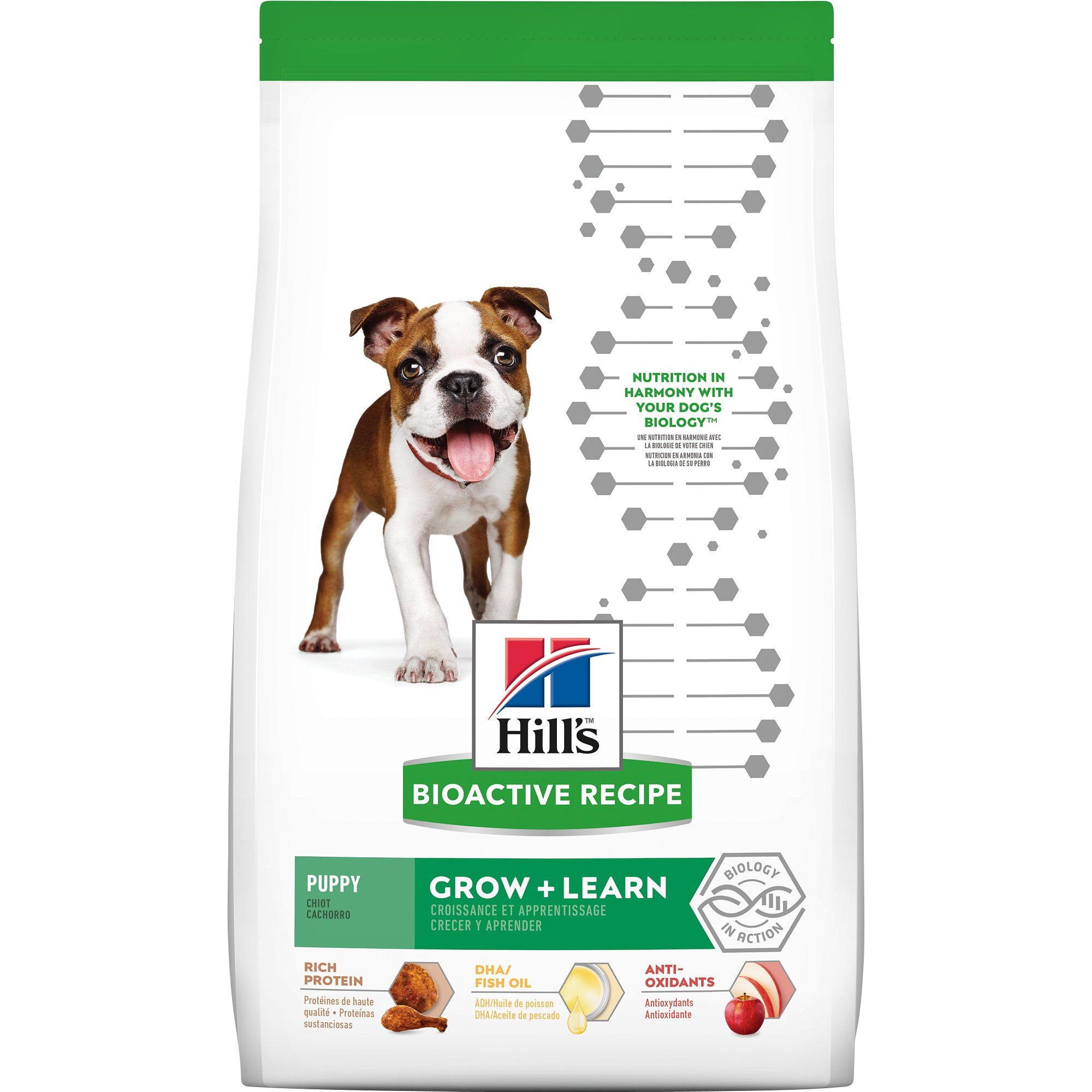 Hill's Bioactive Recipe Grow + Learn Chicken & Brown Rice Puppy Dry Food, 11 Lbs.