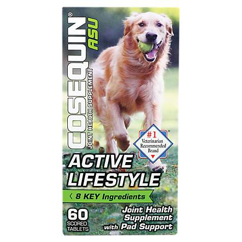 Cosequin ASU Active Lifestyle Joint Health Supplement for Dogs, 0 4 lb ,  Count of 60