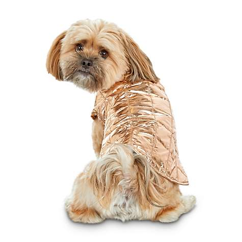 4a88010b1 Good2Go Rose Gold Pack-and-Go Dog Puffer Jacket in a Bag | Petco