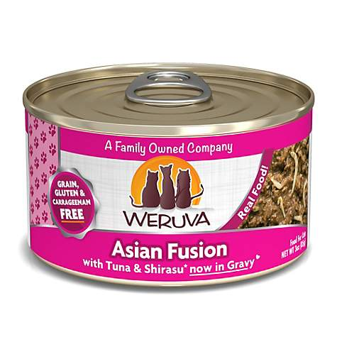 Weruva Classics Asian Fusion with Tuna & Shirasu in Gravy Wet Cat Food