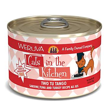 Cats in the Kitchen Two Tu Tango Sardine, Tuna and Turkey Recipe Au Jus Wet Cat Food