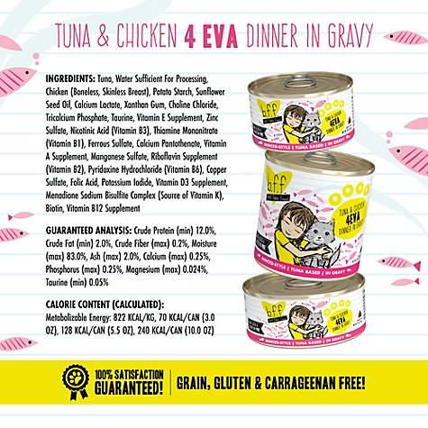B F F  Originals 4EVA Tuna & Chicken Dinner in Gravy Wet Cat Food, 10 oz,  Case of of 12