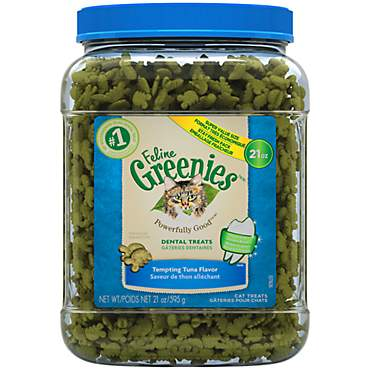 Greenies Feline Tempting Tuna Flavor Dental Cat Treats