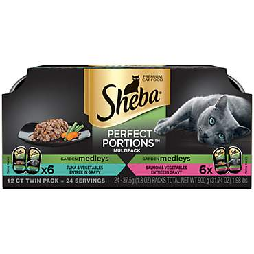 Sheba Perfect Portions Garden Medleys Tuna, Salmon & Vegetables Gravy variety pack Wet Cat Food