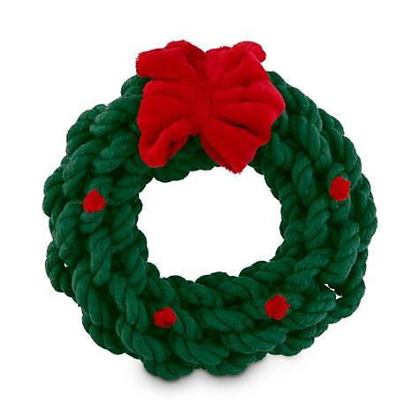 holiday tails christmas wreath rope dog toy petco - Small Christmas Wreaths