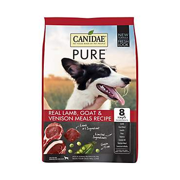 CANIDAE Grain Free PURE Range Dog Dry Red Meat Formula with Fresh Lamb, Buffalo Meal, & Venison Meal