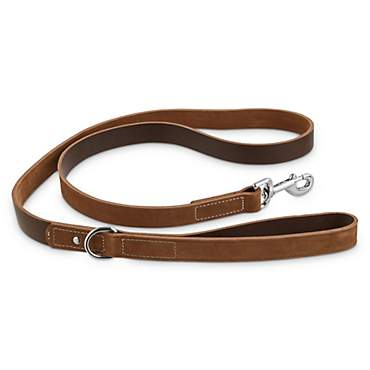 Bond & Co. Dark Brown Leather & Suede Leash