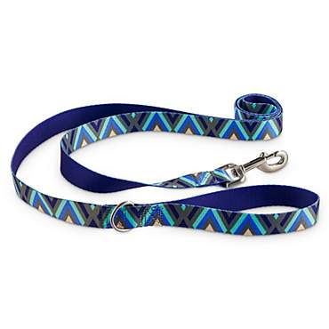 Good2Go Blue Chevron Dog Leash in Blue