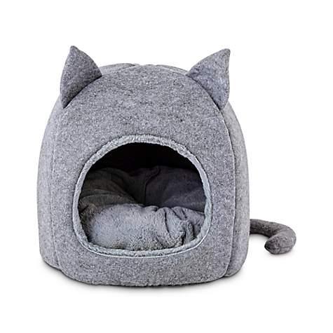 Wondrous Harmony Fellow Feline Hooded Igloo Cat Bed 15 5 L X 15 5 H Customarchery Wood Chair Design Ideas Customarcherynet
