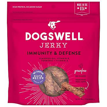 Dogswell Immunity & Defense Jerky Grain-Free Duck Recipe for Dogs