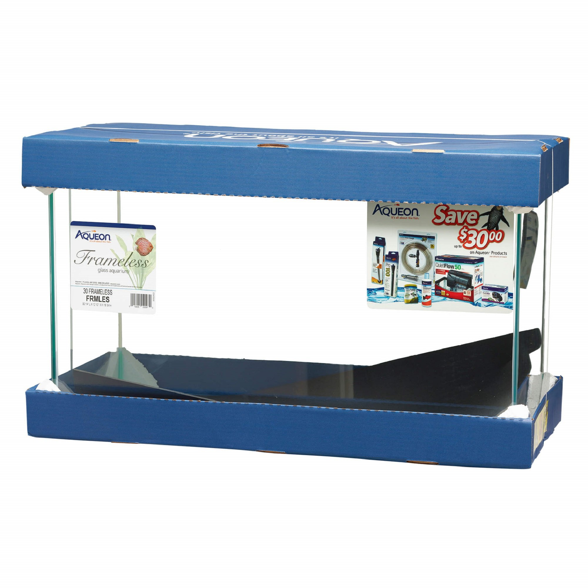 Aqueon 30 Gallon Frameless Aquarium | Petco