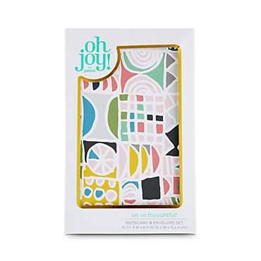 Oh Joy! Oh So Thoughtful! Geometric Notecard and Envelope Set