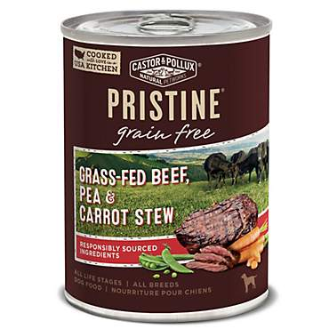 Castor & Pollux Pristine Grain Free Grass-Fed Beef, Pea & Carrot Stew Wet Dog Food