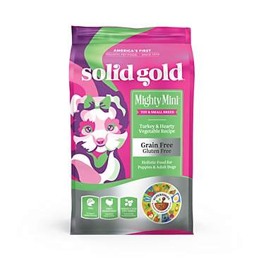 Solid Gold Grain Free Mighty Mini Turkey & Hearty Vegetable Dry Dog Food