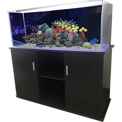Super R&J Enterprises 48X13 Espresso Modern Aquarium Cabinet | Petco YZ-31