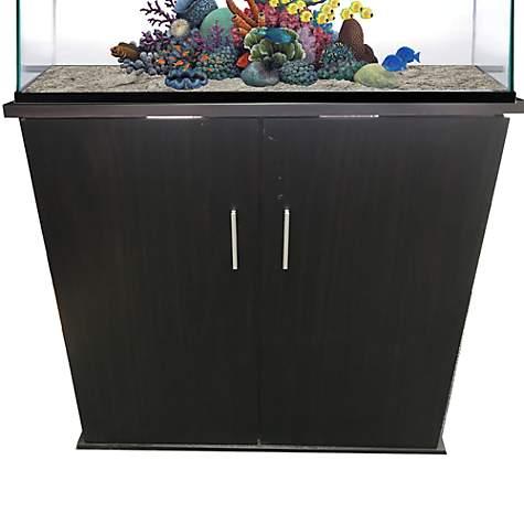 Ru0026J Enterprises 36x18 Espresso Modern Aquarium Cabinet